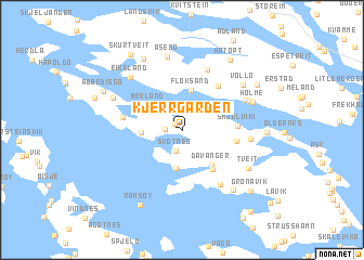 map of Kjerrgarden