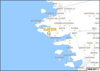 map of Kjevik