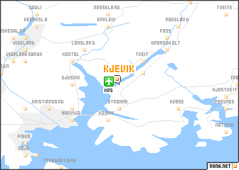 map of Kjevik