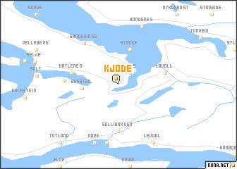 map of Kjøde