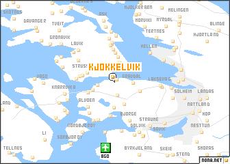 map of Kjøkkelvik
