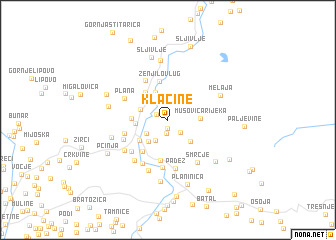 map of Klačine