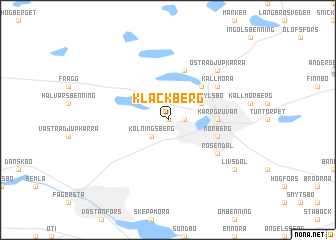 map of Klackberg