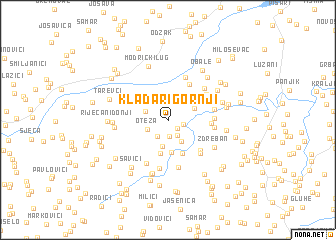 map of Kladari Gornji