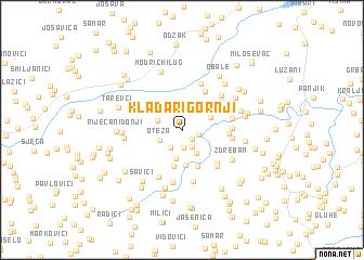 map of Kladari Gornji