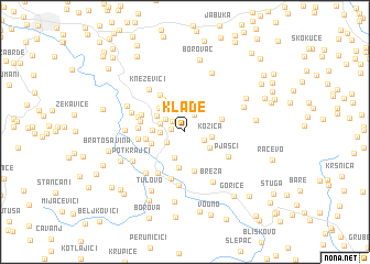 map of Klađe
