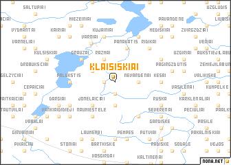 map of Klaišiškiai
