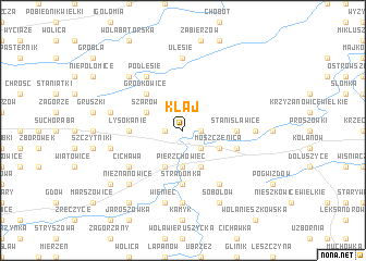 map of Kłaj