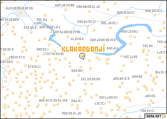 map of Klakar Donji