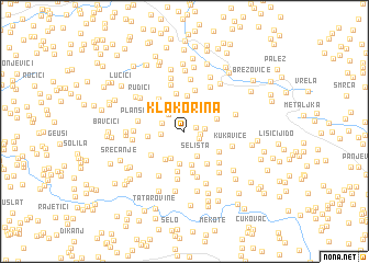 map of Klakorina