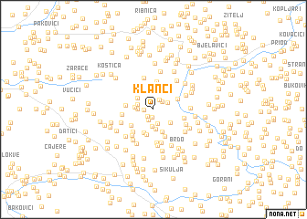 map of Klanci