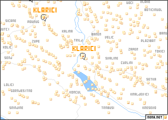 map of Klarići