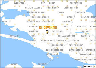 map of Klarskov