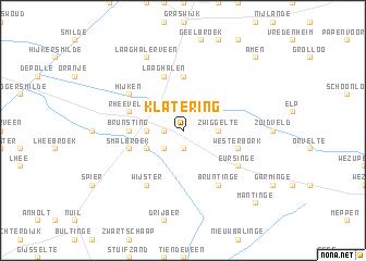 map of Klatering