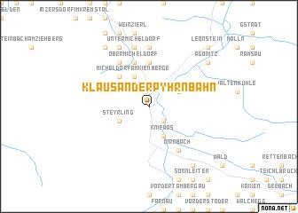 map of Klaus an der Pyhrnbahn