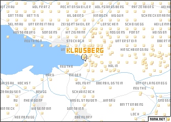 map of Klausberg