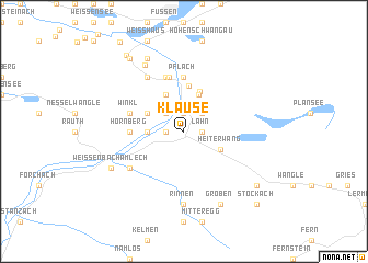 map of Klause