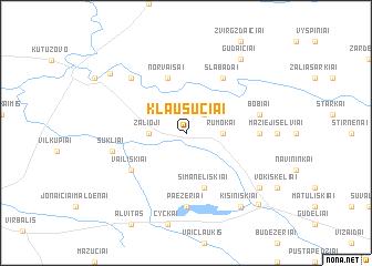 map of Klausučiai