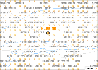 map of Klebing