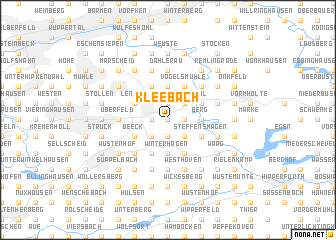 map of Kleebach