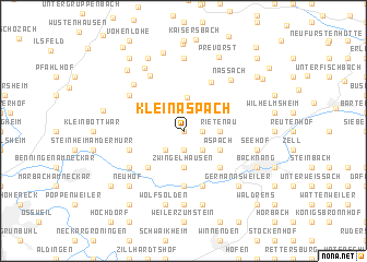 map of Kleinaspach