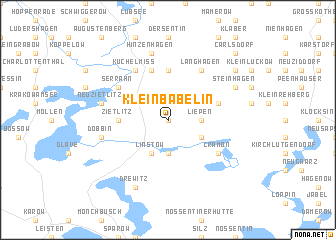 map of Klein Bäbelin