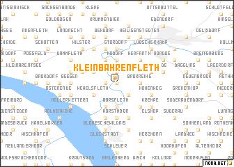 map of Klein Bahrenfleth