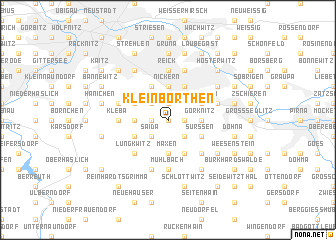 map of Kleinborthen