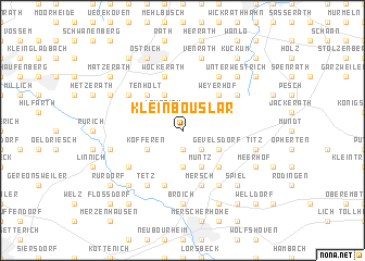 map of Kleinbouslar
