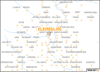 map of Kleinedling