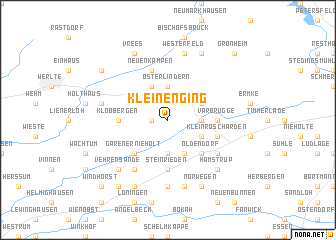 map of Kleinenging