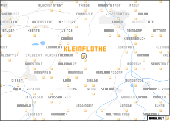 map of Klein Flöthe