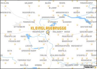 map of Klein Gladebrügge