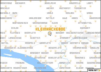 map of Klein Hackeboe