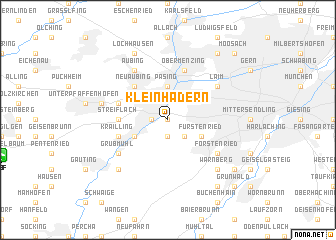 map of Kleinhadern