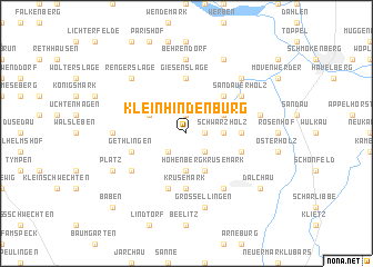 map of Klein Hindenburg
