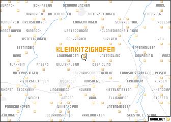 map of Kleinkitzighofen