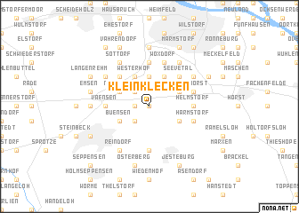 map of Klein Klecken