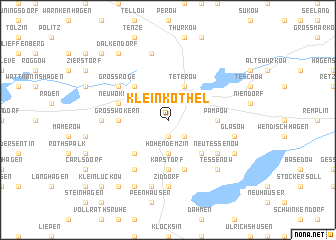 map of Klein Köthel