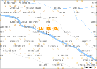 map of Klein Kühren