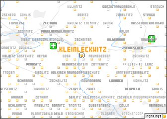 map of Kleinleckwitz
