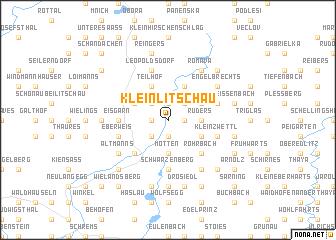 map of Kleinlitschau