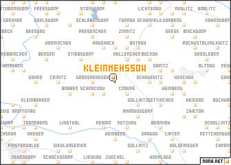 map of Klein Mehßow