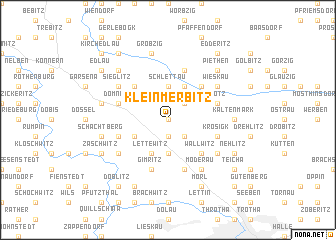 map of Klein Merbitz