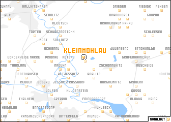 map of Kleinmöhlau