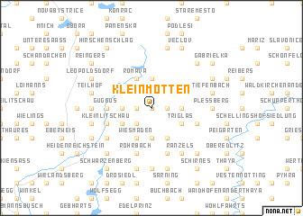 map of Kleinmotten