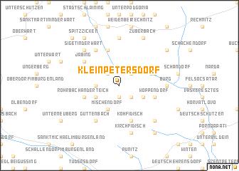 map of Kleinpetersdorf