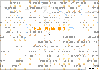 map of Kleinpiesenham