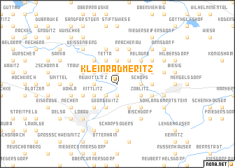 map of Kleinradmeritz