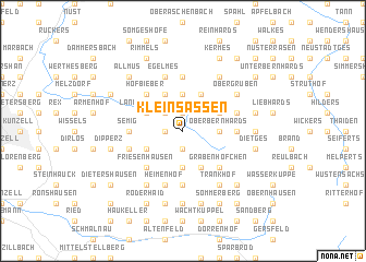 map of Kleinsassen